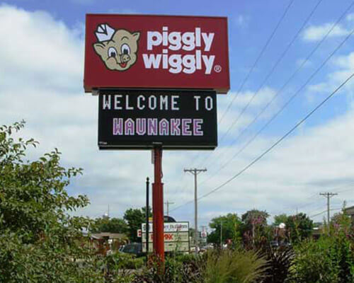 Piggy wiggly sign
