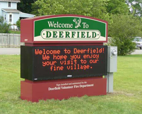 Deerfield electronic sign