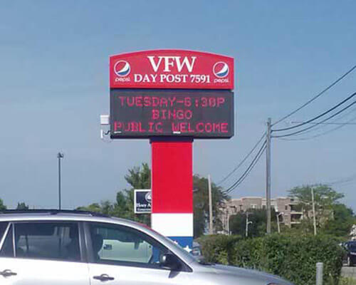 VFW electronic sign