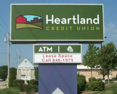 Heartland Credit Union freestanding sign