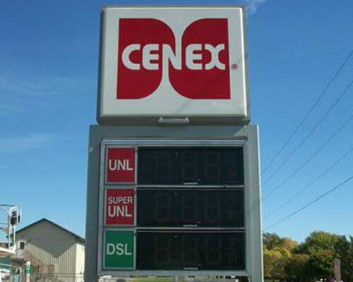 Cenex freestanding sign
