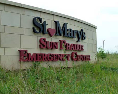 St. Mary's freestanding sign