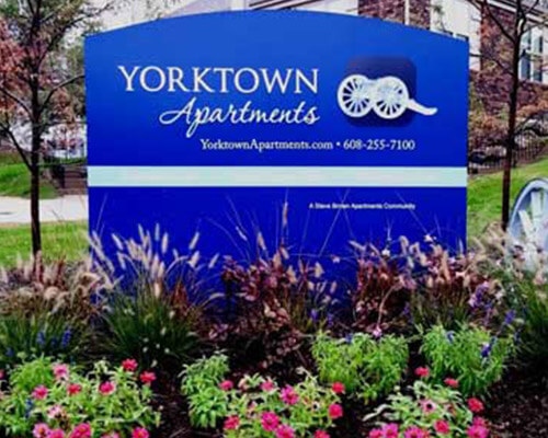 Yorktown Apartments freestanding sign