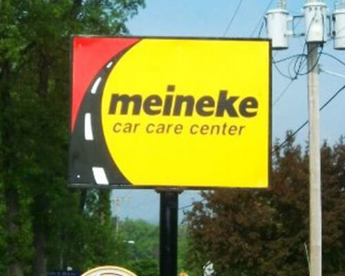 Meineke Car Care freestanding sign
