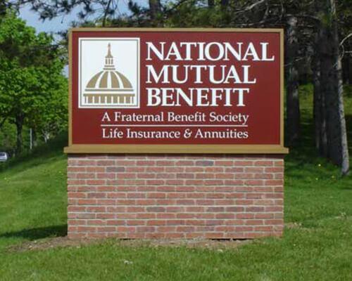 National Mutual freestanding sign