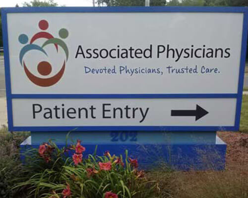 Associated Physicians freestanding sign
