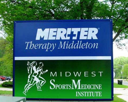 Meriter Therapy freestanding sign