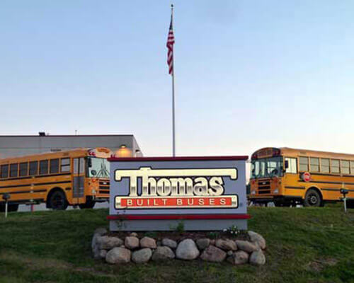 Thomas freestanding sign