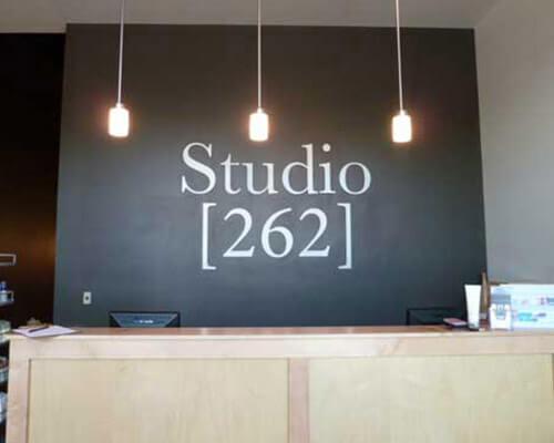 Studio 262 wall sign