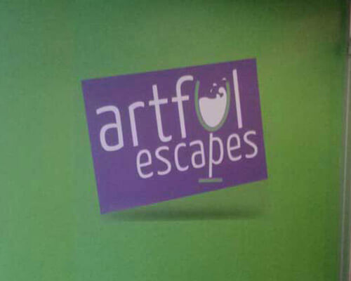 Artful Escapes interior sign