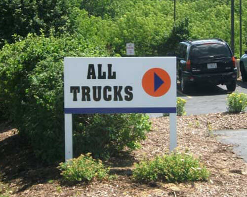 All Trucks freestanding sign