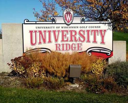 university ridge sign