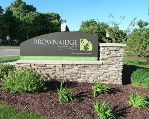 Brownridge Terrace freestanding sign