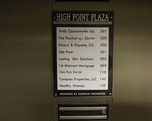 High Point Plaza sign