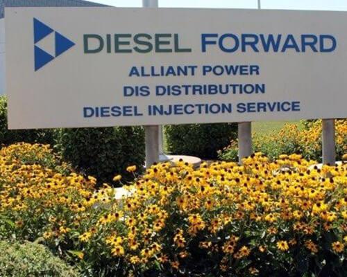 Diesel Forward freestanding sign