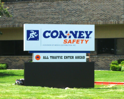 Conney Safety freestanding sign