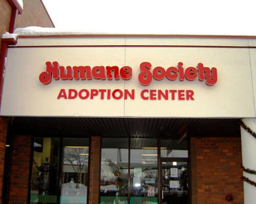 Humane Society building sign
