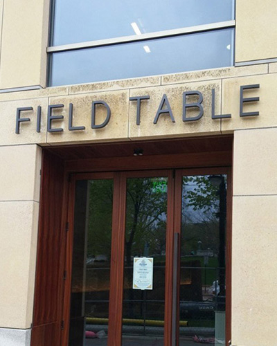 field table sign