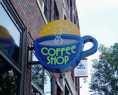 Coffee Shop building sign