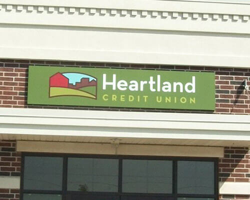 Heartland Credit Union building sign
