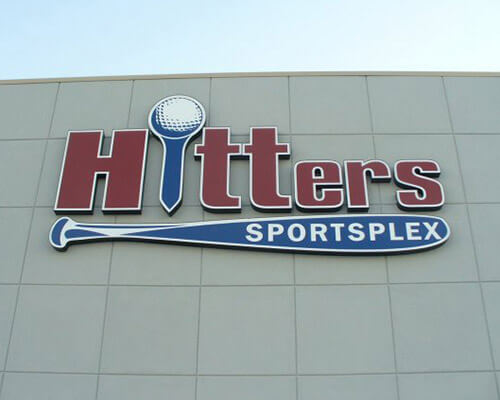 Hitters Sportsplex building sign