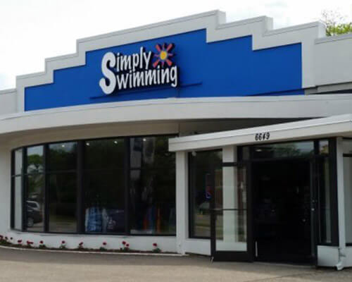 Simply Swimming building sign