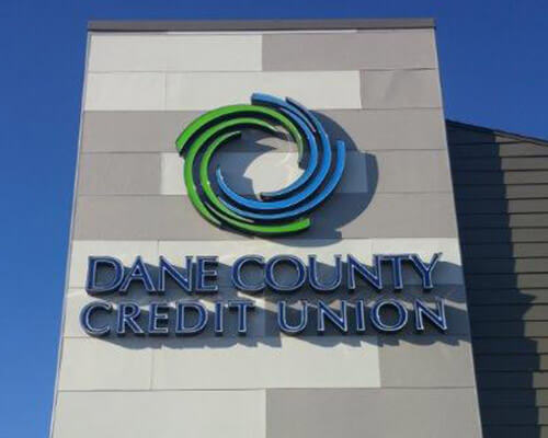 Dane County Credit Union sign