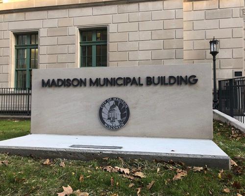 madison municipal building sign