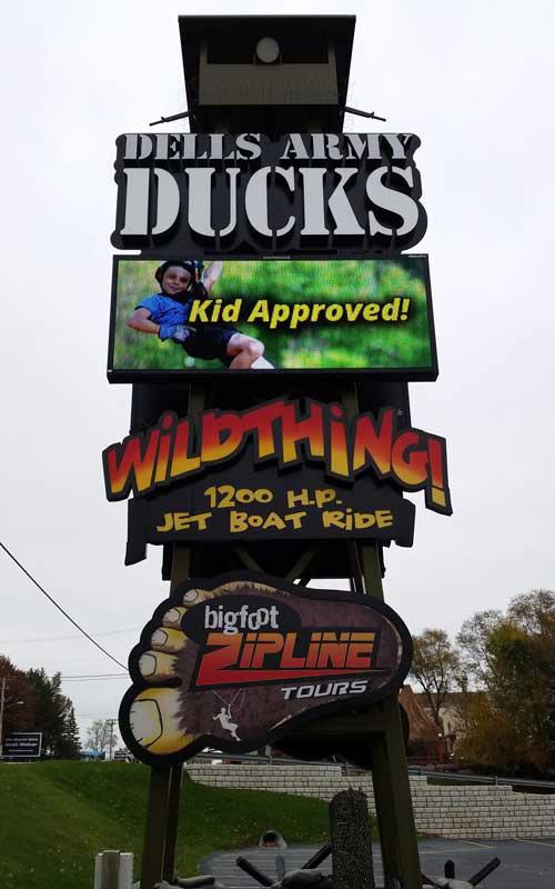 dells army ducks sign